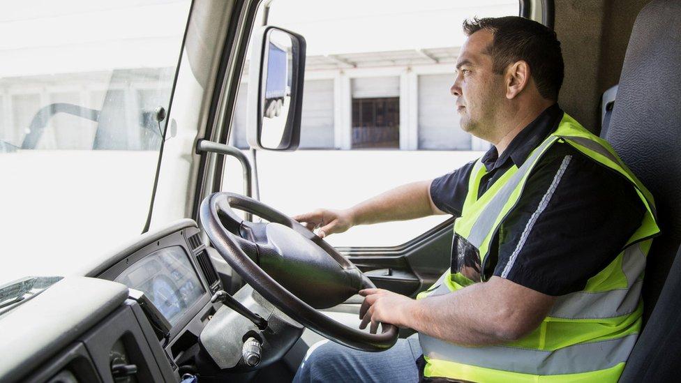 Un camionero británico