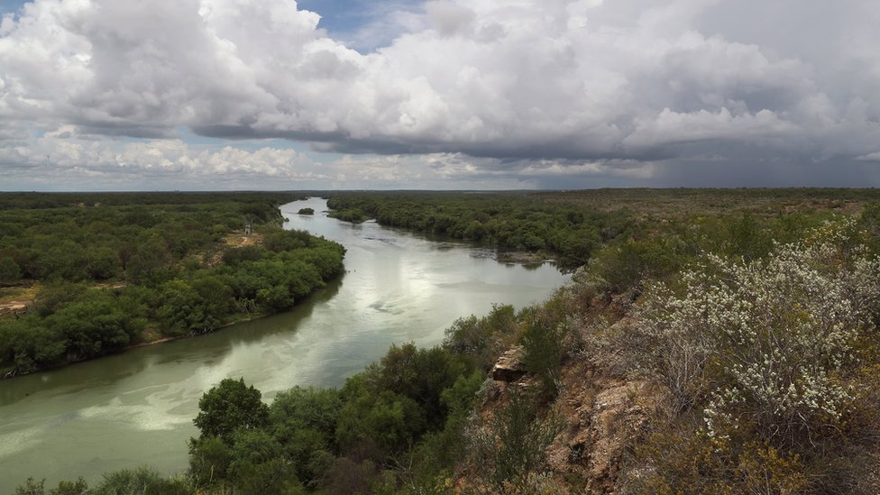 The Rio Grande flows along the U.S.-Mexico border on August 16, 2016 near Roma, Texas.