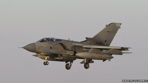 RAF Tornado returning to RAF Akrotiri in Cyprus in 2014