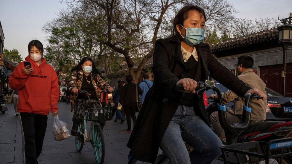 mujeres en Pekín