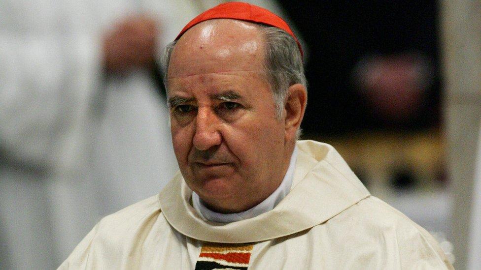 El cardenal chileno Francisco Javier Errázuriz.