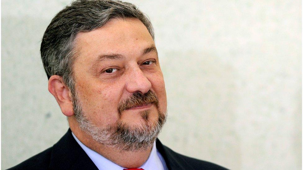 Portrait of former Brazilian finance minister