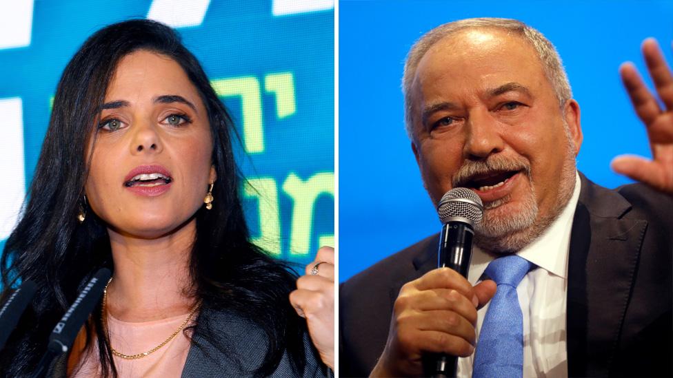 Ayelet Shaked and Avigdor Lieberman