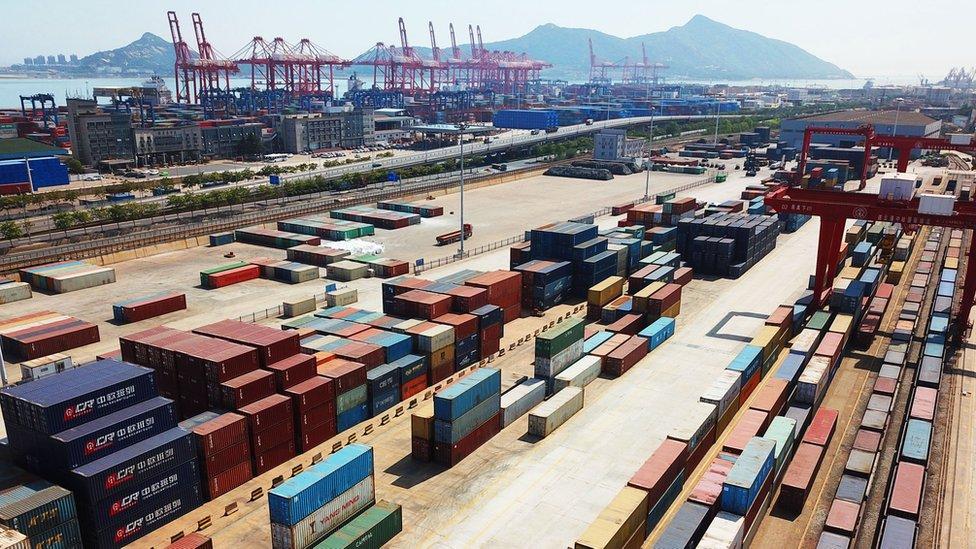 Terminal de contenedores en China