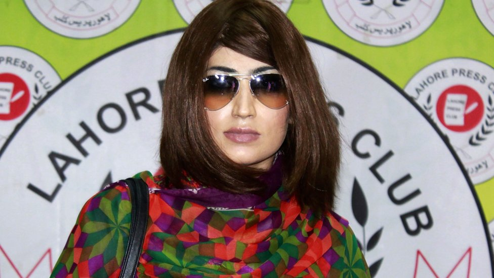 Qandeel Baloch - a social media star in Pakistan - pictured shortly before her death