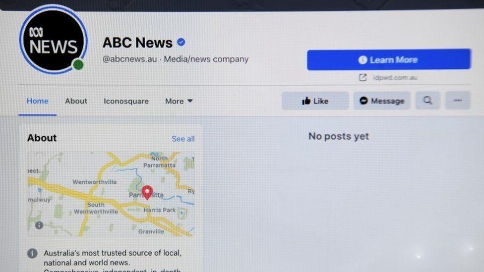 Página de ABC News de Australia en Facebook.