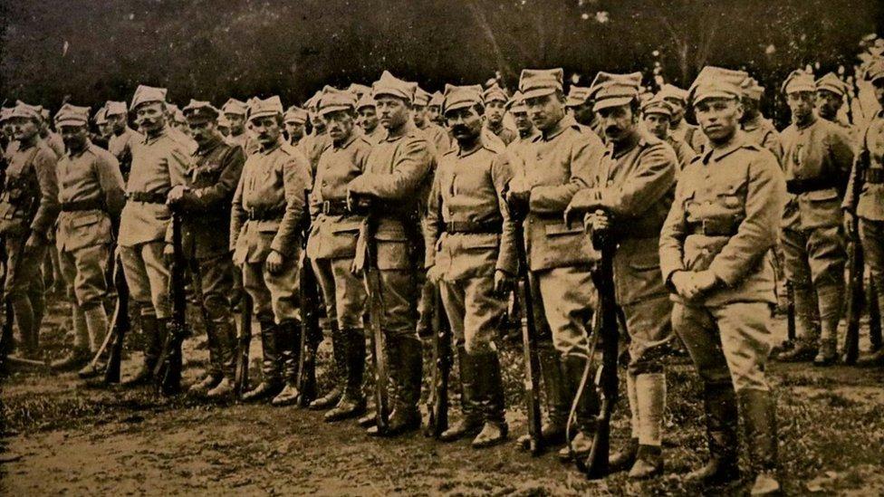 Polish soldiers at Dreghorn