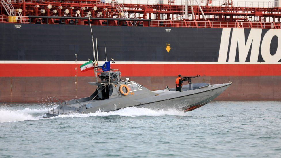 IRGC detiene a un tanquero británico en 2019.