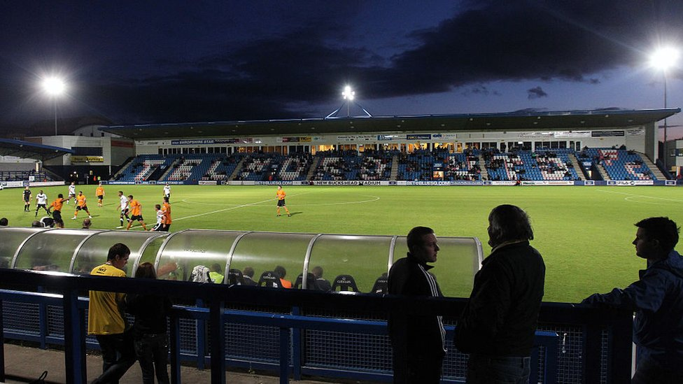 AFC Telford playing Wolves in a friendly