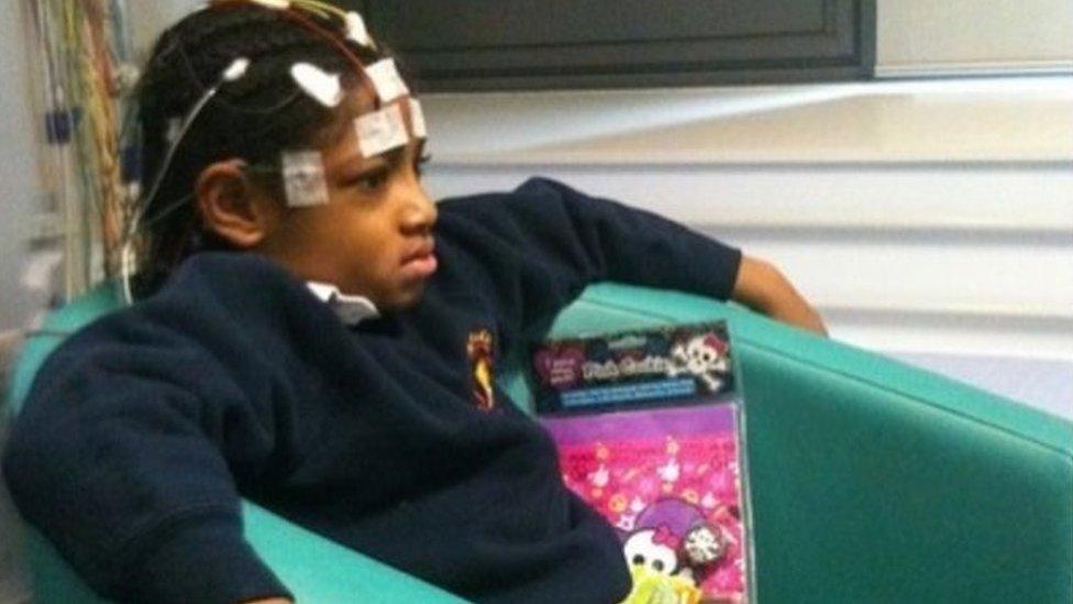 Ella Kissi-Debrah en el St Thomas' hospital de Londres