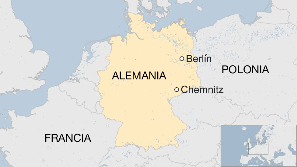 Mapa Chemnitz