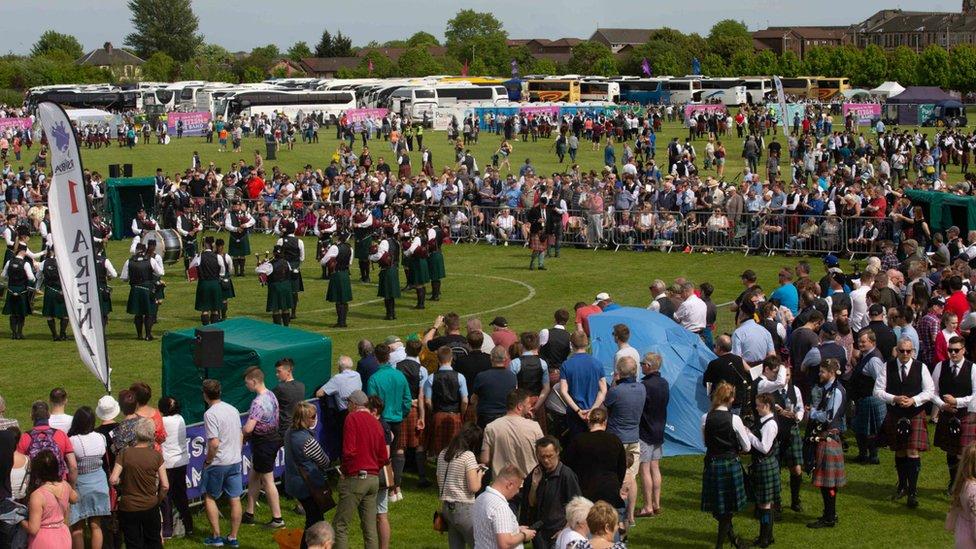 Paisley hosts British Pipe Band Championships