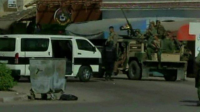 Security forces in Ben Guerdane. Tunisia
