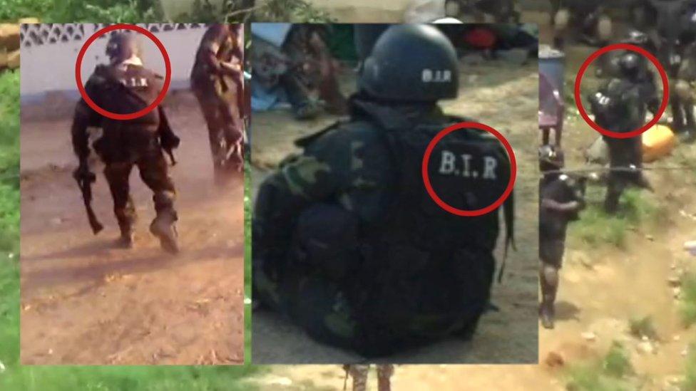 BIR soldiers seen in video still from 2016