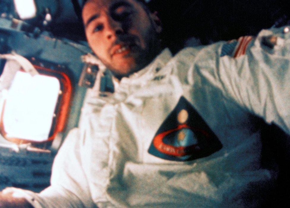 Bill Anders en el Apolo 8.