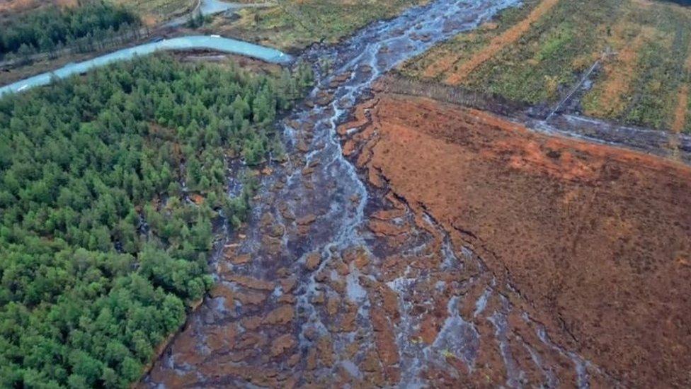 Peat slide