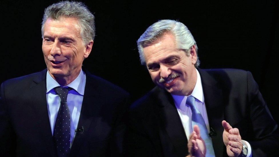 Mauricio Macri and Alberto Fernández