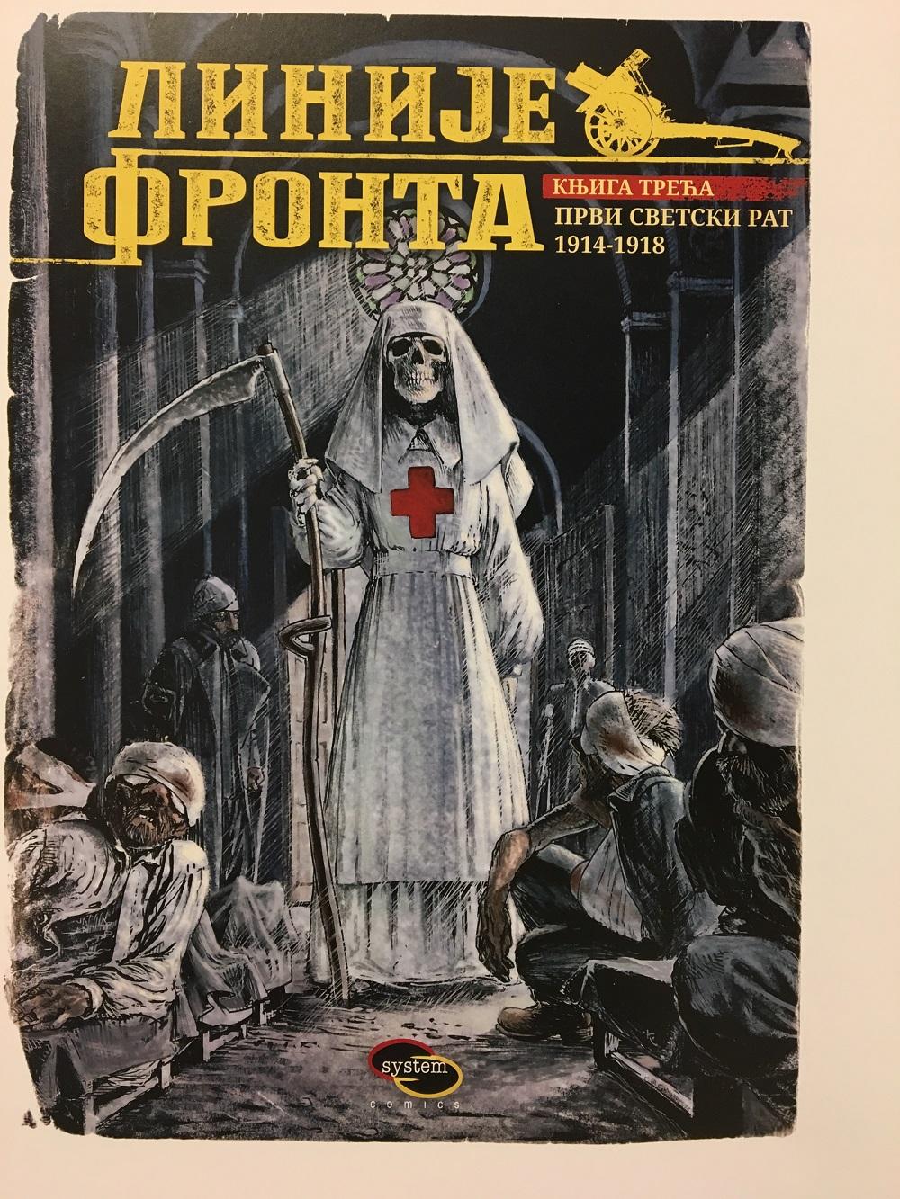 Strip ilustracija Linije fronta
