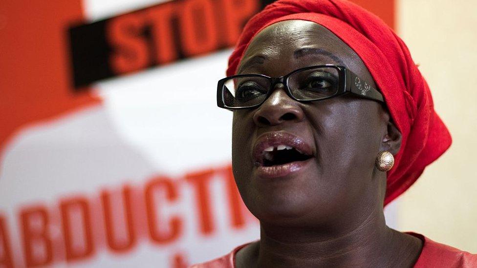 Jestina Mukoko speaking in 2016