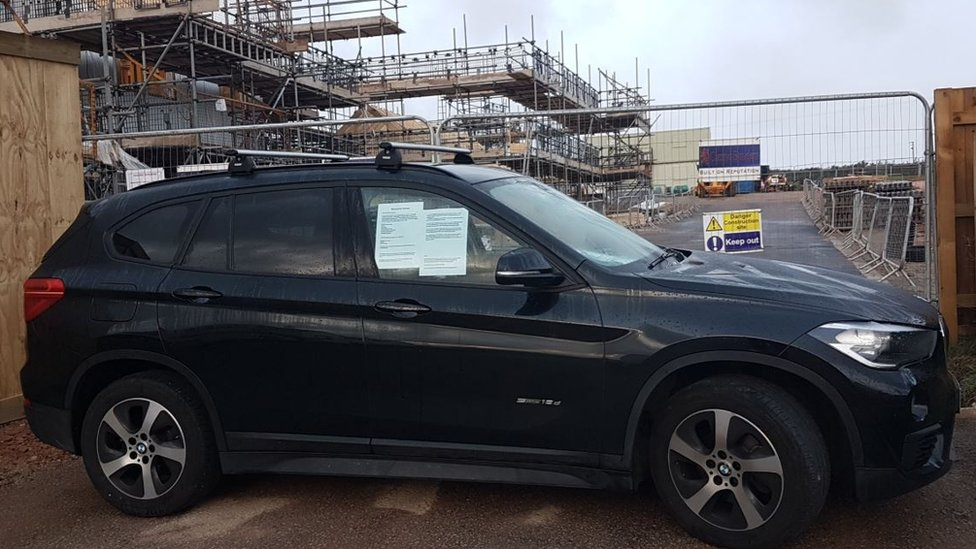 Mum blocks Cornish housing site with car in disability row
