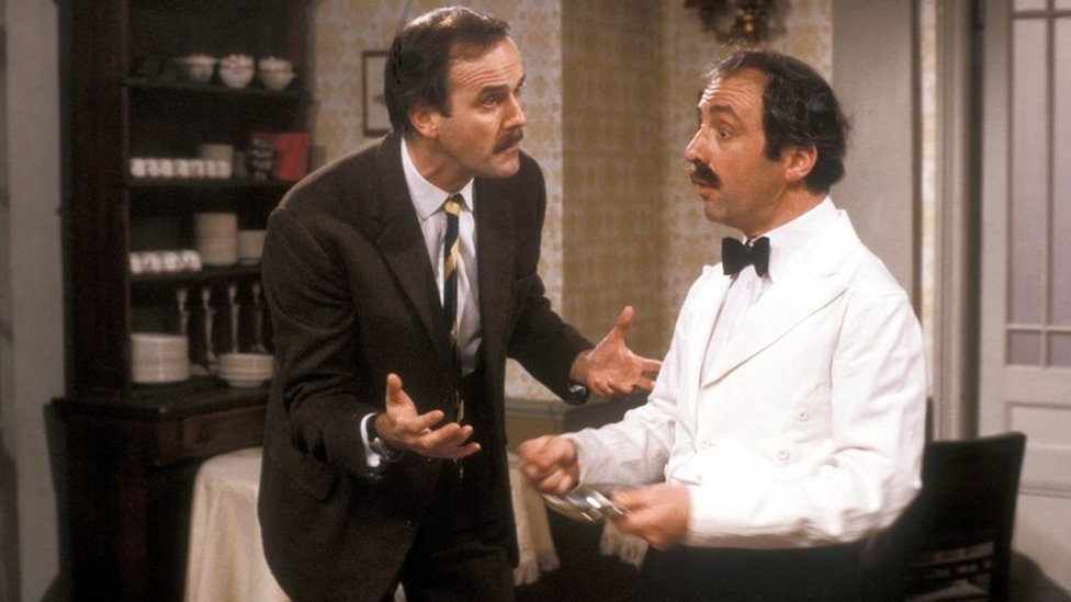 John Cleese & Andrew Sachs in Fawlty Towers