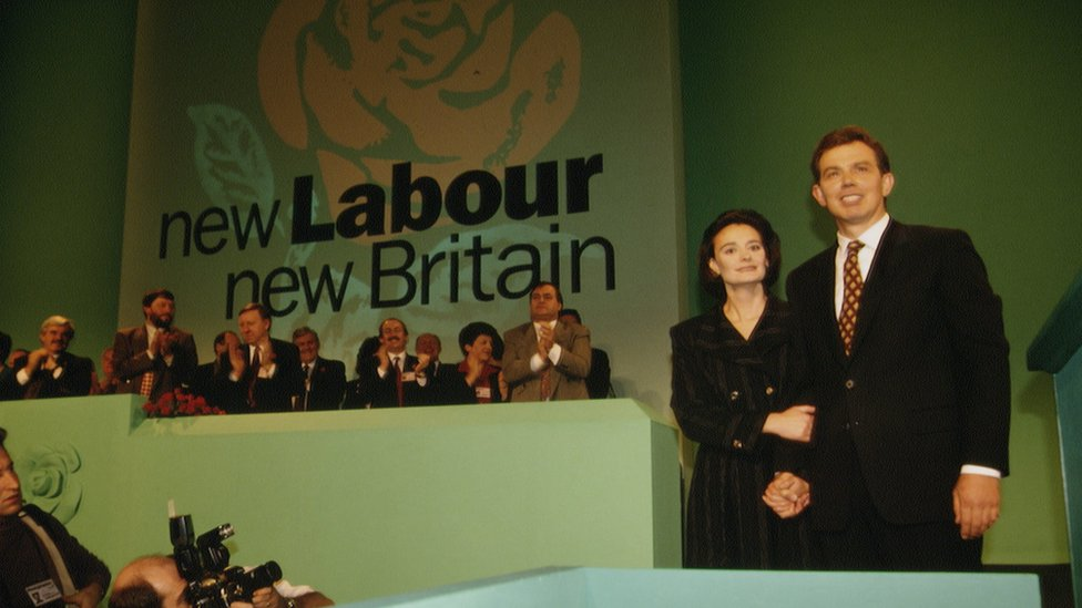 Tony and Cherie Blair at 1994 Labour conference