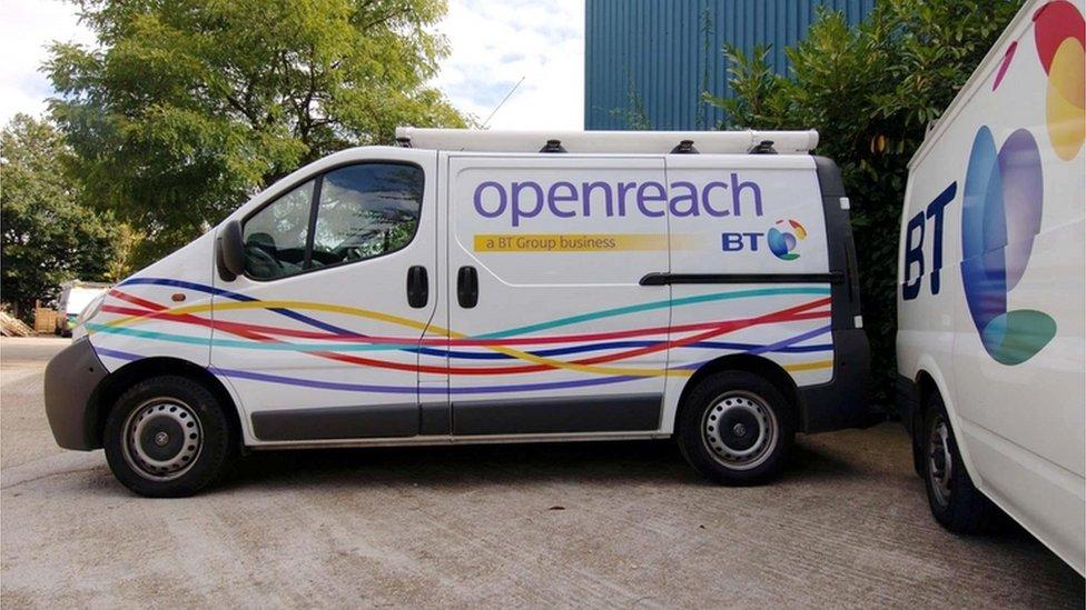 BT Openreach van