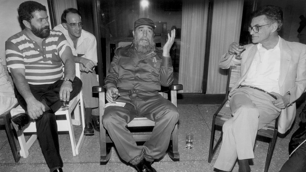 idel Castro con Luiz Inacio Lula Da Silva en La Habana