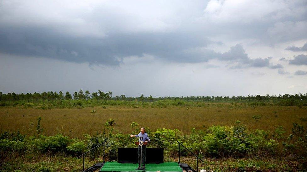 Obama in Florida.