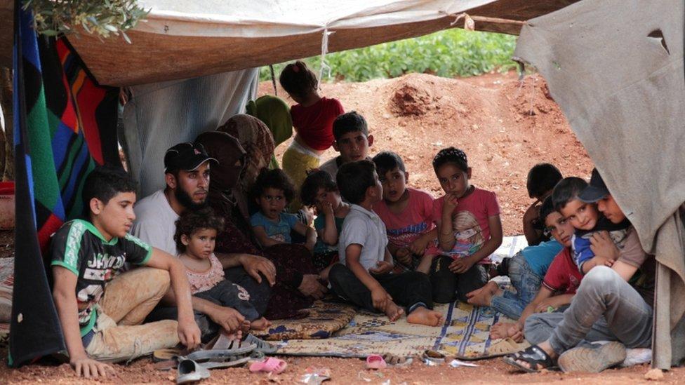 مشردون في إدلب