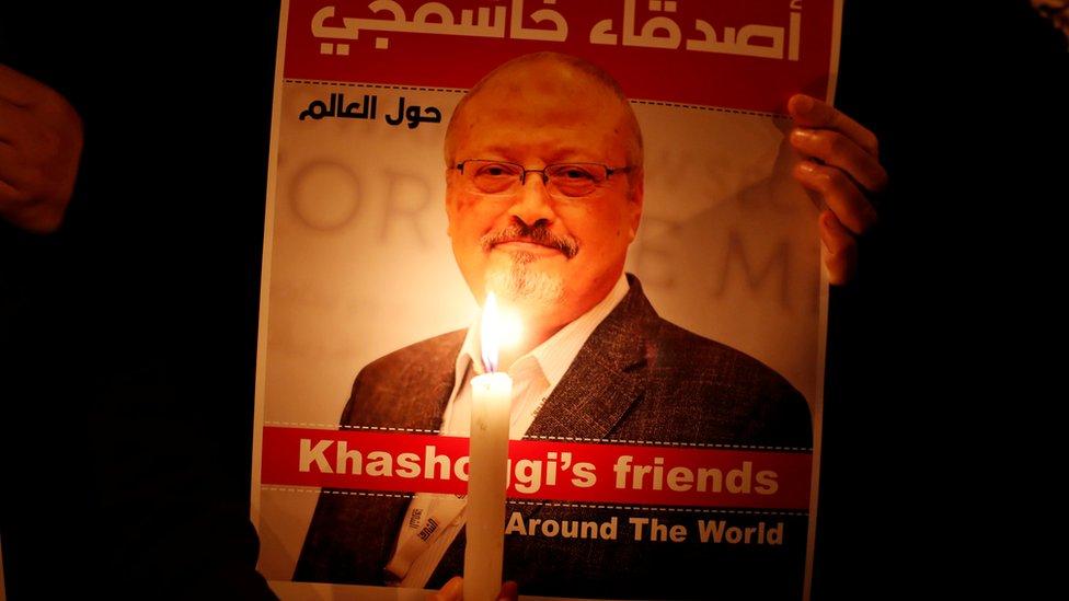 Jamal Khashoggi: Journalist's fiancee sues Saudi crown prince thumbnail