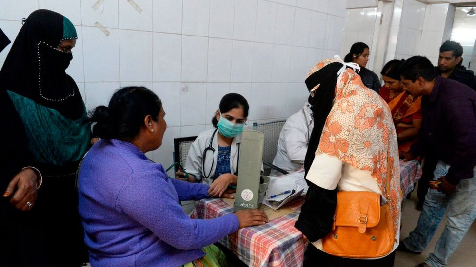 People seeking medical treatment from a doctor