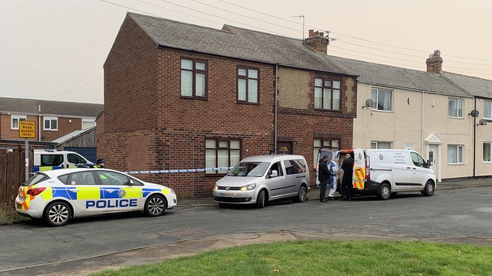 Durham body: Police cordon off street and back lane