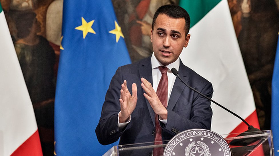 Italy's Deputy Prime Minister and Minister of Economic Development, Labour and Social Policies, Luigi Di Maio