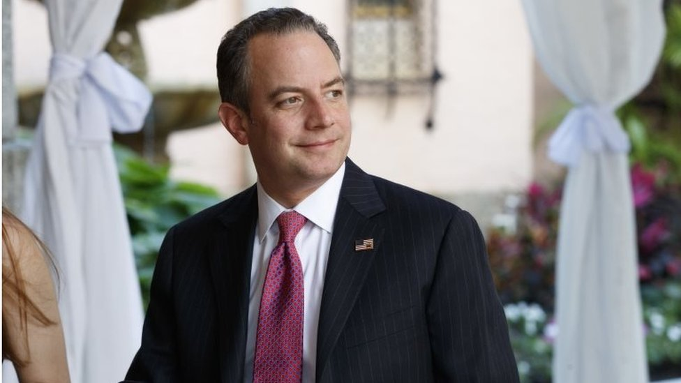 Reince Priebus, chief of staff for President-elect Donald Trump, arrives at Mar-a-Lago, on 28 December 2016, in Palm Beach, Fla.
