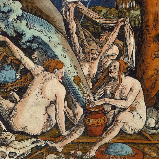 Un cuadro del siglo XVI sobre brujas