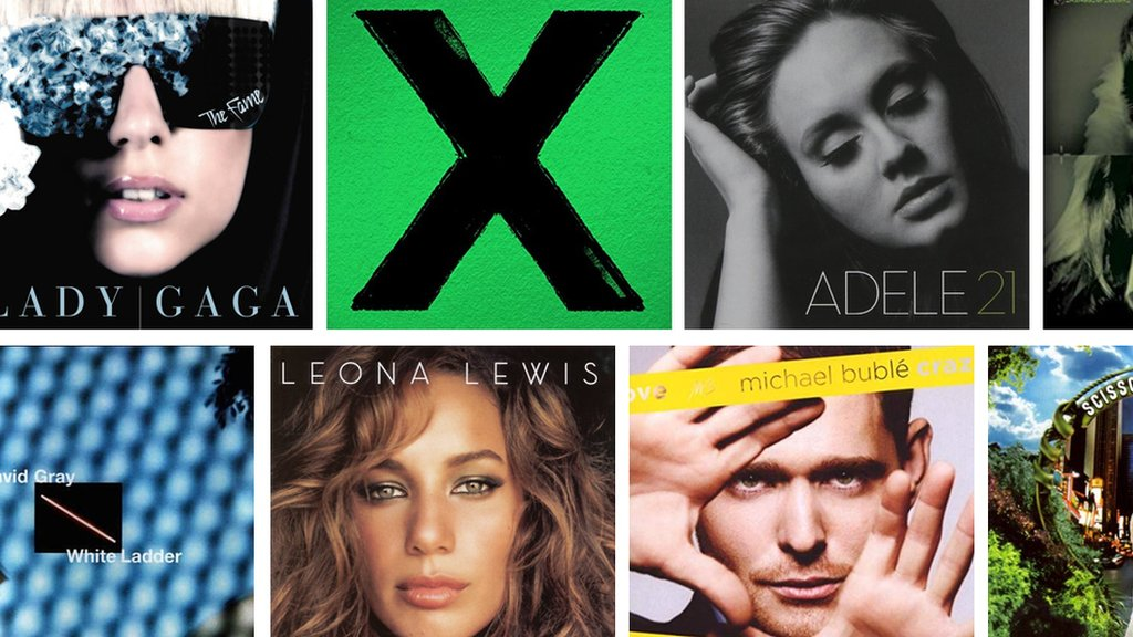 BBC News - Radio 2 reveals the best-selling albums of the 21st Century
