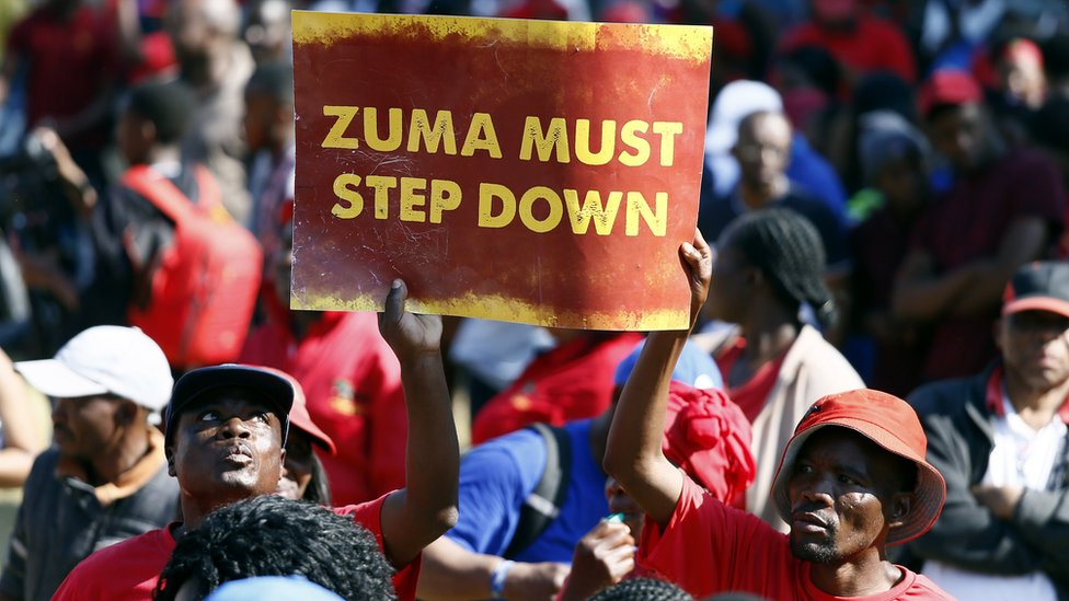 Members of the opposition EFF (Economic Freedom Fighters) during a march to the Union Buildings in Pretoria