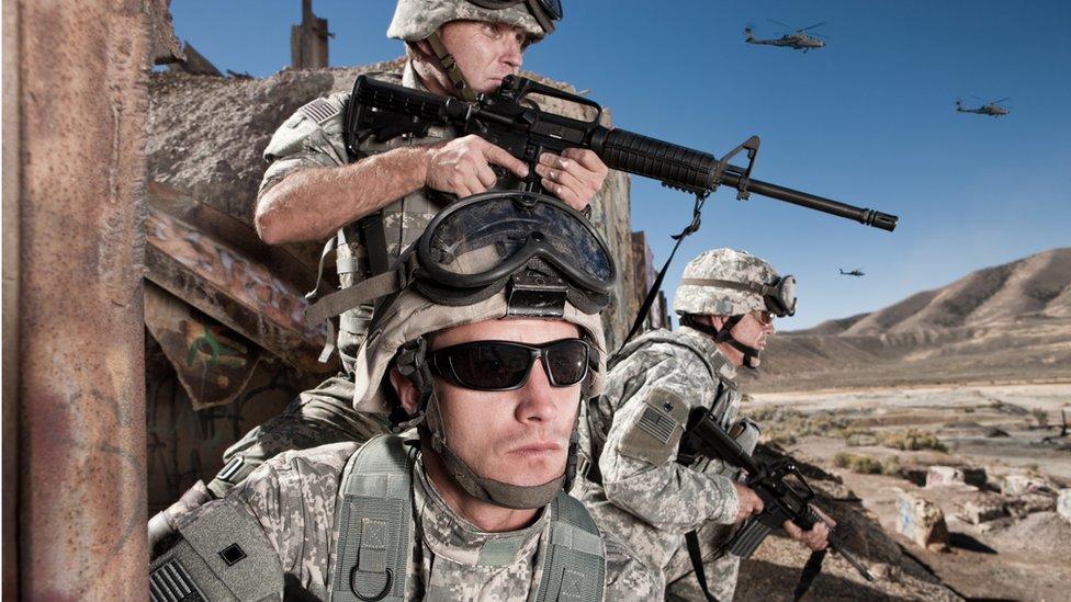 Soldados de Estados Unidos en Afganistán.