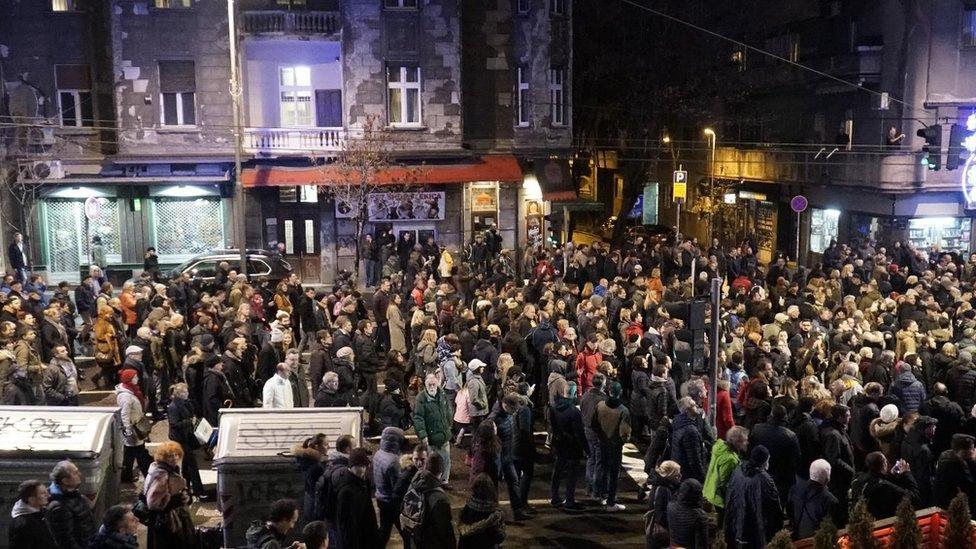 protest opozicije u beogradu