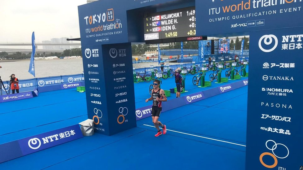 GB's Jonny Brownlee finishes fifth in the triathlon Olympic test event in Tokyo in 2019