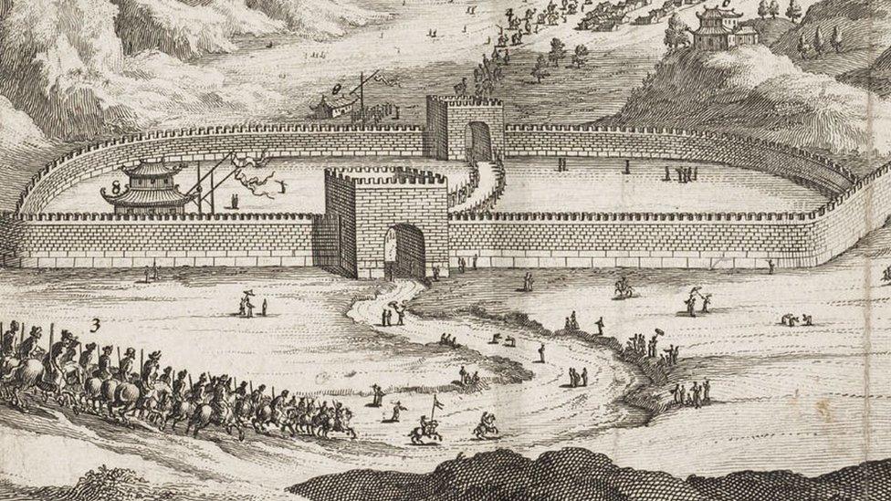 長城的很大一部分建於明朝