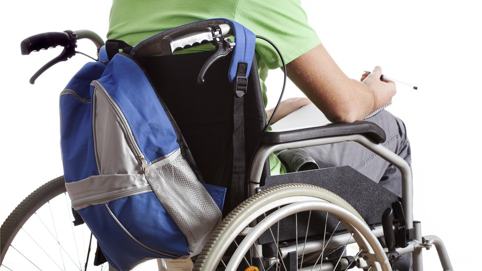 young person in wheelchair