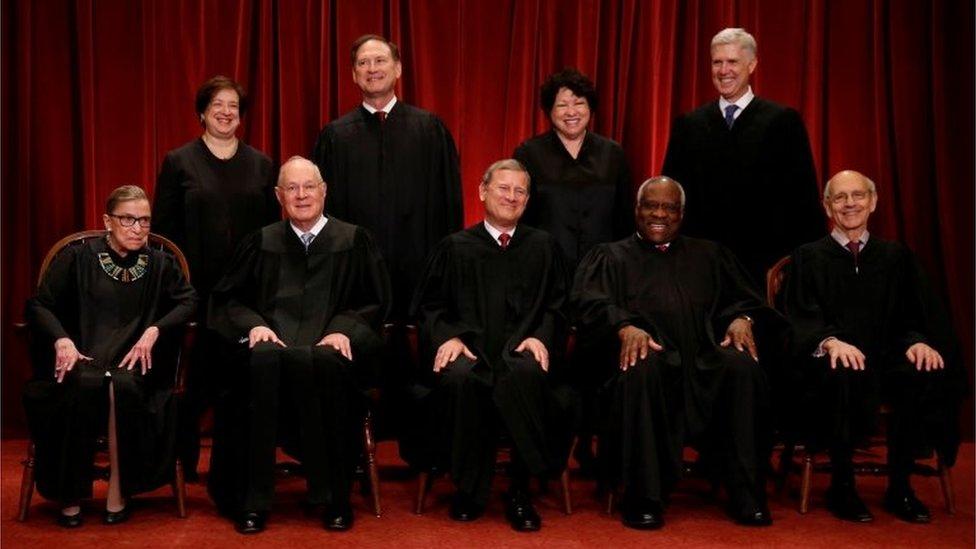 Los miembros de la Corte Suprema de EE.UU.