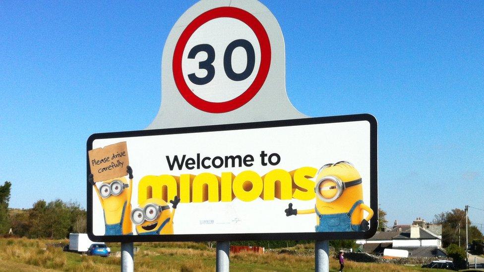 Minions sign