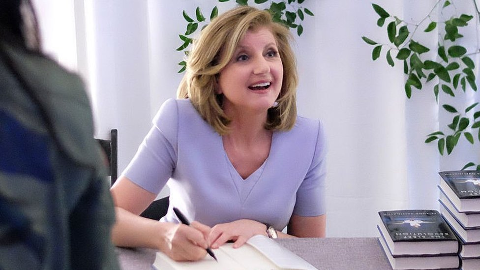 Arianna Huffington signs copies of her book about sleep