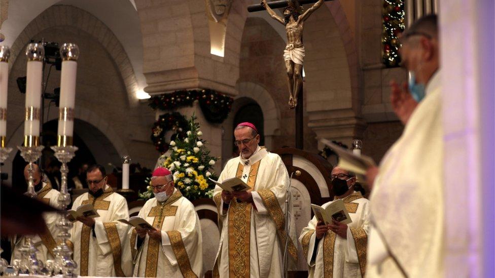قداس عيد الميلاد في بيت لحم