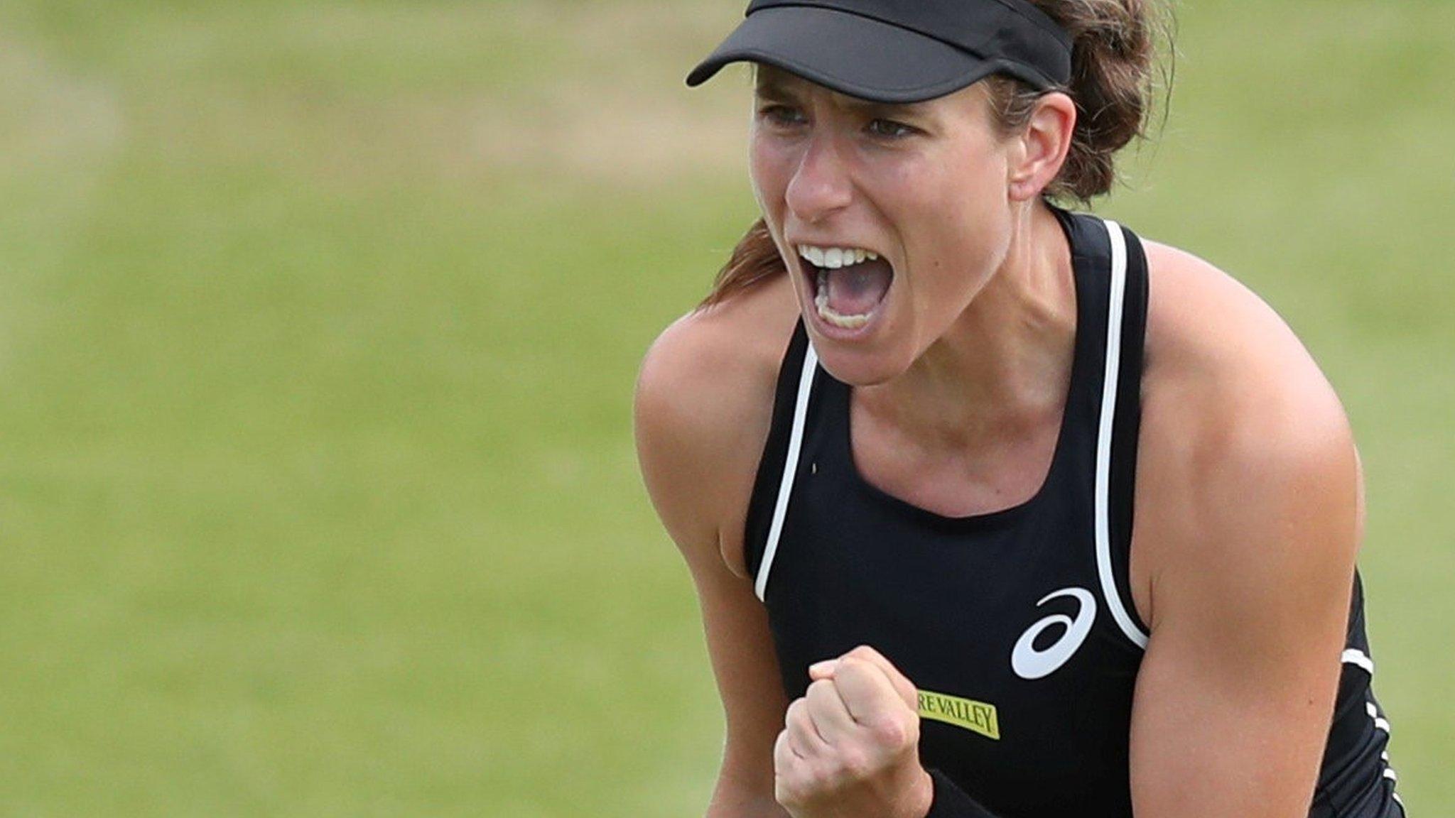 Nature Valley Open: Johanna Konta beats Heather Watson, Katie Boulter defeats Sam Stosur