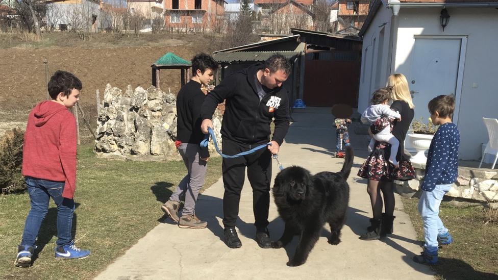 Porodica Novaković u Bariču, februar 2019.