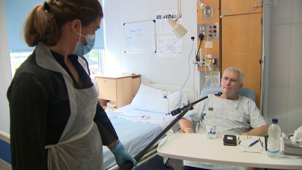Tam in hospital